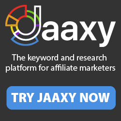 jaxxy banner; keyword research tool