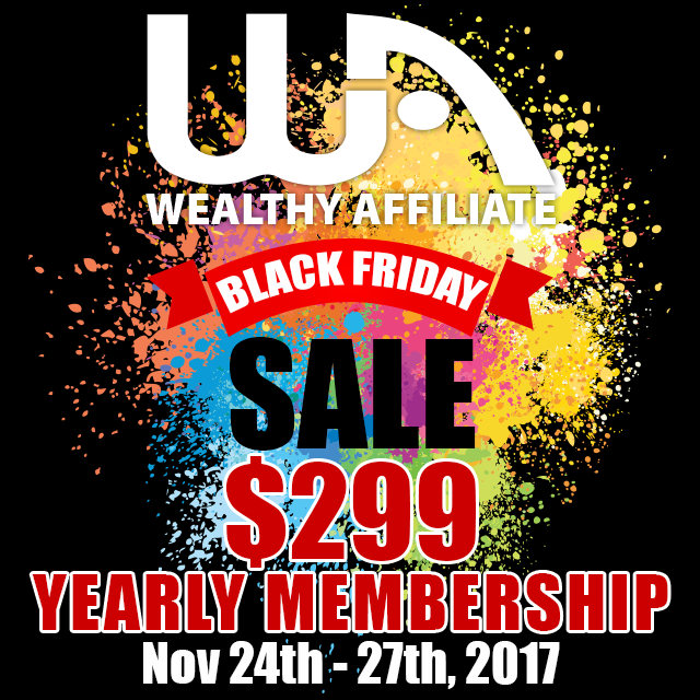 photo of a banner for black friday pricing special for 2017