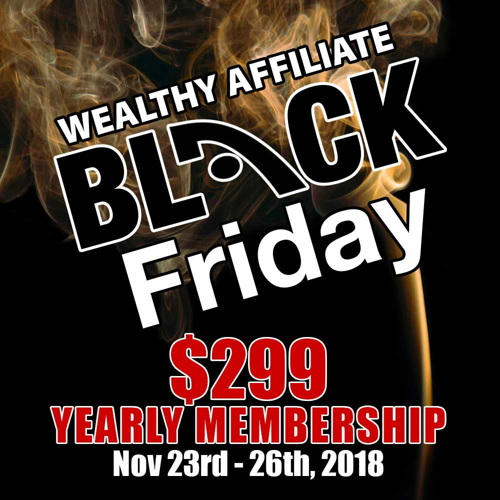 what is the wealthy affiliate black friday deal- turn your life around!