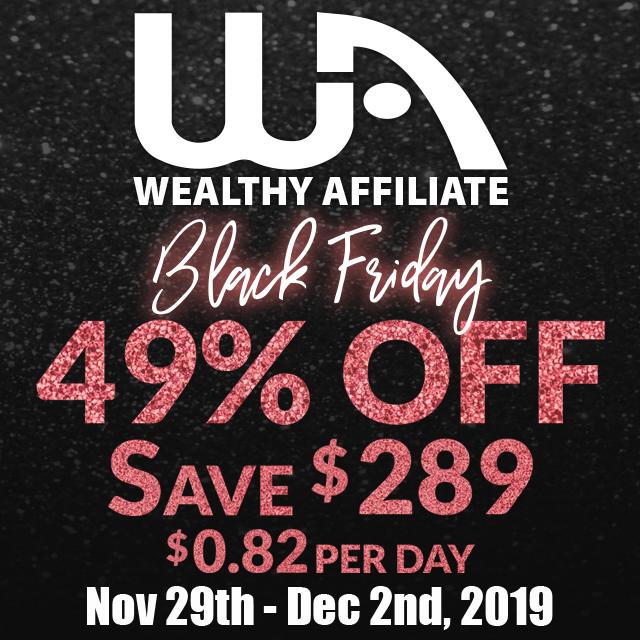 wealthy affiliate black friday banner