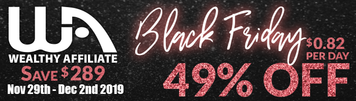 Wealthy Affiliate Black Friday Sale banner