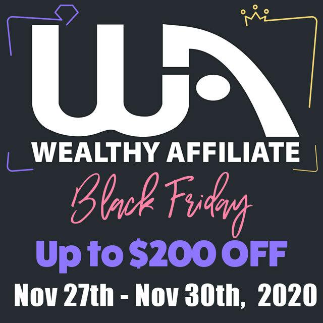 Wealthy Affiliate's Black Friday Sale - Banner