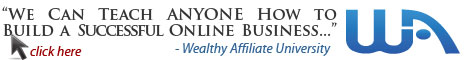 Wealthy Affiliate opt-in form